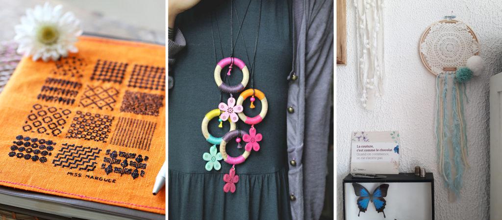 Créations art textile de Sophie Miss Marguerite