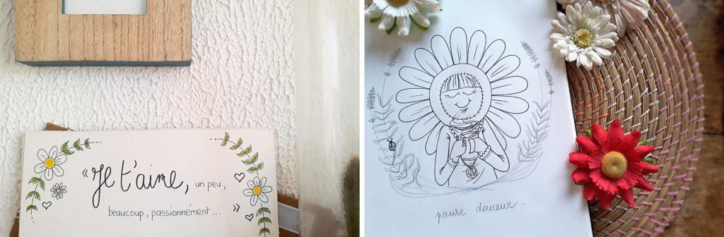 montage photos illustrations Miss Marguerite