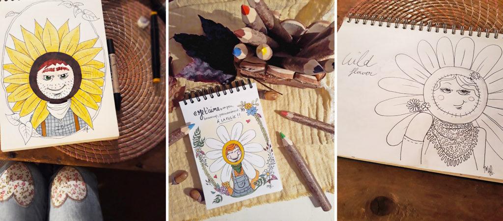 Illustrations de l'artiste Miss Marguerite