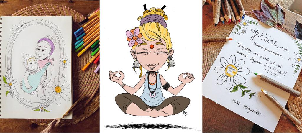 montage illustrations de Sophie Miss Marguerite