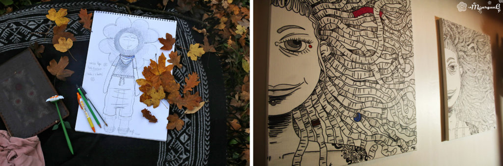 montage dessins de Sophie Miss Marguerite
